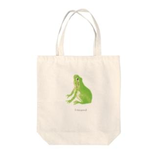 アマガエル Tote bags