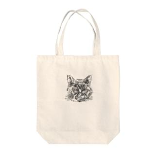 いかちー猫 Tote bags
