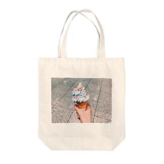 カラースプレーonソフトクリーム Tote bags
