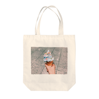 水平線のカラースプレーonソフトクリーム Tote bags
