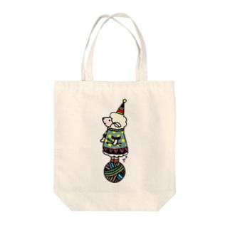 玉乗りひつじちゃん Tote bags