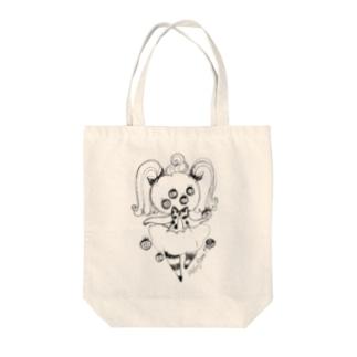 かぼちゃちゃんは興味津々A Tote bags