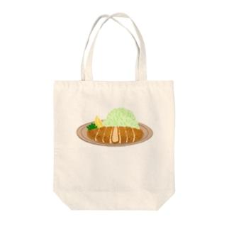 とんかつ Tote bags