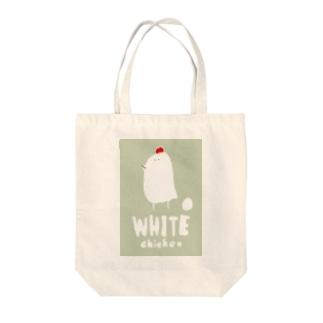 ニワトリの絵 Tote bags