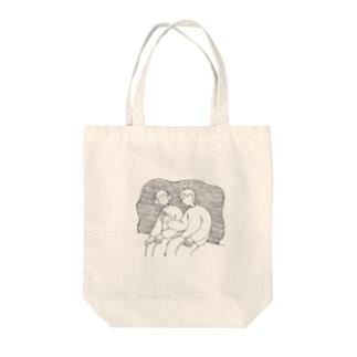 対等な二人 Tote bags
