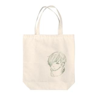 見つめる少年 Tote Bag