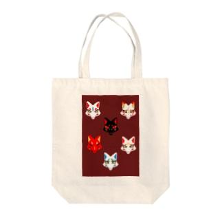 狐面 Tote bags