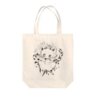 ドットリボンちゃんのぽたぽたA Tote bags