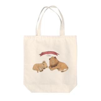ライオン親子 Tote bags