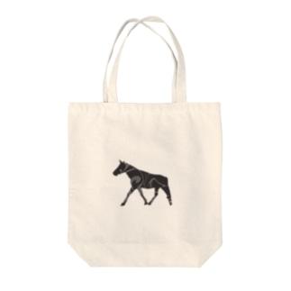 馬マーブル Tote bags
