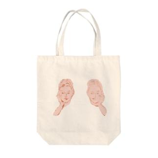頬杖ガールズ Tote bags