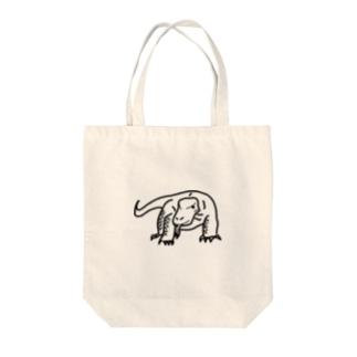 コモドドラゴン Tote bags