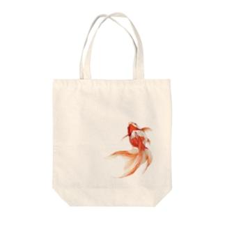 りゅうきん Tote bags