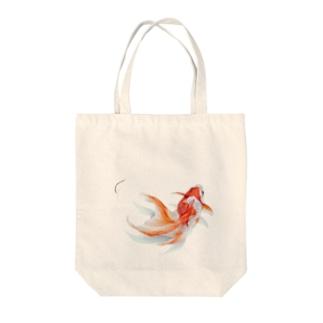 りゅうきん まる Tote bags