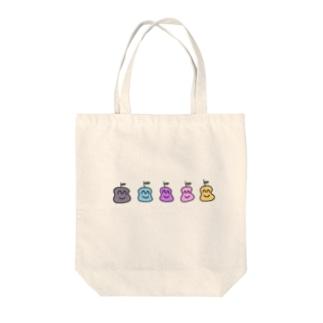 カラフルりんごくん Tote bags