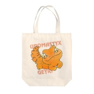 ゲイリートゲオアガマ Tote bags