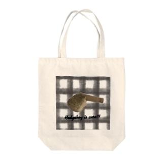 ハリネズミと筒 Tote bags