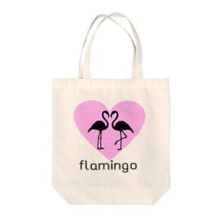 Flamingo Tote bags