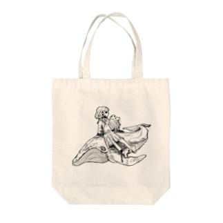 クジラと犬と…… Tote bags