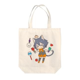 ハロウィン猫耳少年 Tote bags
