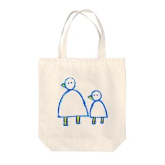 大きなとり小さなとり Tote bags