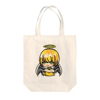 天使のテンちゃん Tote bags