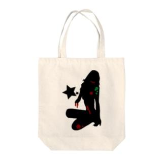 スターシリーズ✖️ゾンビガール Tote bags