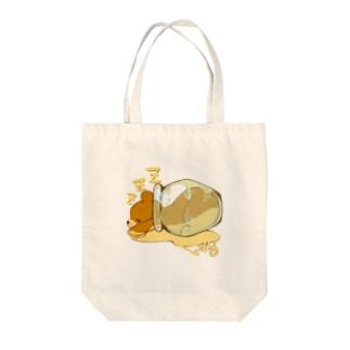 んまちゃんショップのはちみつクマちゃん( 縁なし) Tote bags