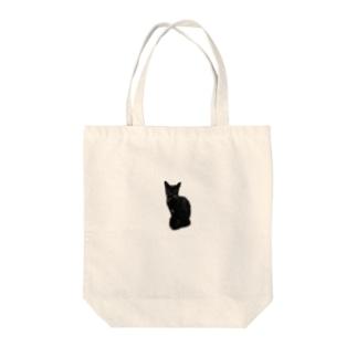 クロネコ Tote bags