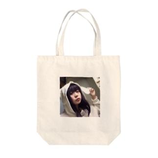 ウサギザギ Tote bags
