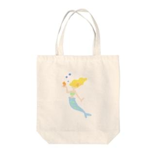 憧れの人魚サン Tote bags