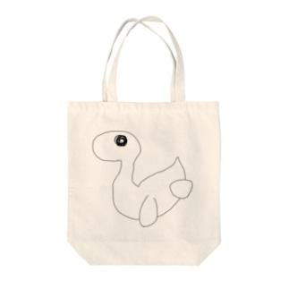 恐竜 Tote bags