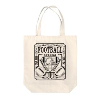 PB-FOOTBALL ブラック Tote bags