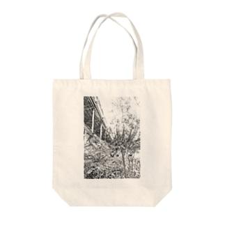 曼珠沙華(モノクロ) Tote bags