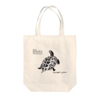 日本の爬虫類 リュウキュウヤマガメ Tote bags