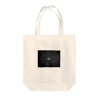 落ちイヤホン【モノクロ】 Tote bags