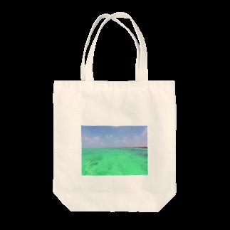 mikalohasmileのSUP*マリンブルー Tote bags