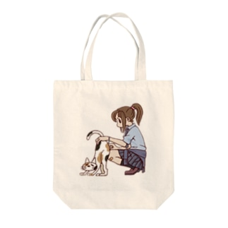 bbbbbbのJKと三毛猫 Tote bags