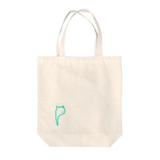 (ねこ._.) Tote bags