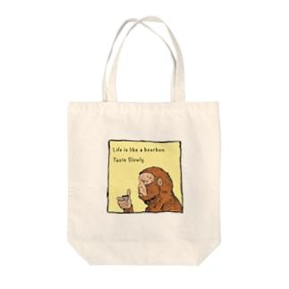 Drinking Monkey 酒飲みザルカラーver Tote bags