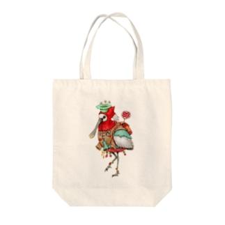 道案内鳥 Tote bags