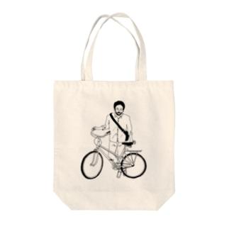 自転車男子 Tote bags