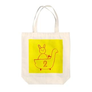 アヒルカー2号 Tote bags