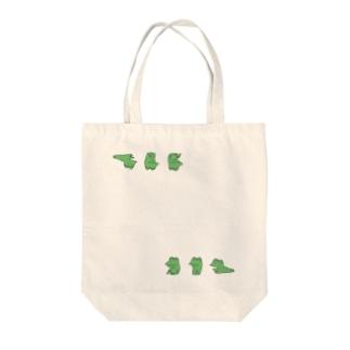 カエル(上と下) Tote bags