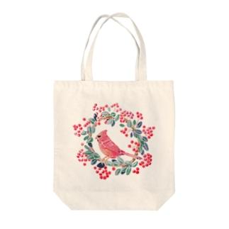 ショウジョウコウカンチョウ Tote bags