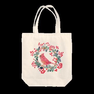 megumiaratameのショウジョウコウカンチョウ Tote bags