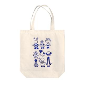 宇宙人☆目玉ファミリー Tote bags