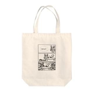 胴長うさぎ天使 Tote bags