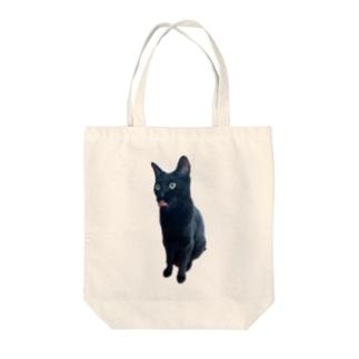 うちの猫:名前はボス、呼び方はけっけ タオルハンカチ Tote bags