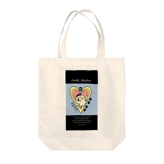 Lovely Mushrey: wink Tote bags